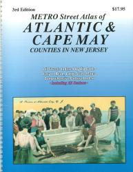 Atlantic and Cape May Counties, New Jersey Atlas by Franklin Maps