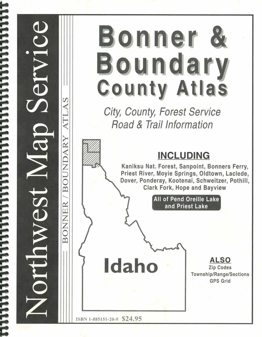 Bonner And Boundary County Idaho Atlas By Northwest Map Service