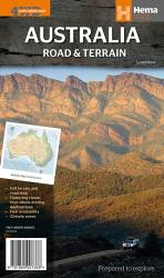 Australian, Road and Terrain Map, 4WD Explorer by Hema Maps