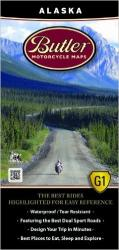 Alaska Motorcycle Map by Butler Motorcycle Maps