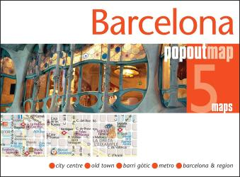 Barelona, Spain PopOut Map by PopOut Products