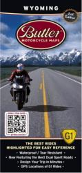 Wyoming G1 Map by Butler Motorcycle Maps