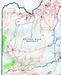 Belize baseline map