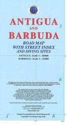 Antigua and Barbuda Road Map by Kasprowski Publisher