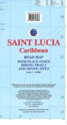 Saint Lucia, Caribbean, Road map by