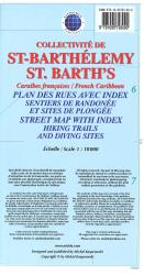 St Barth's, French Caribbean, Street map by