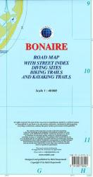 Bonaire, Dutch Caribbean, Road Map by Kasprowski Publisher
