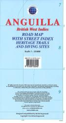 Anguilla, British West Indies, Road Map by Kasprowski Publisher