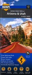 Arizona and Utah, Regional Scenic Tours by MAD Maps