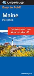 Maine, Easy to Fold by Rand McNally