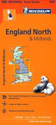 England, Northern and The Midlands (502) by Michelin Maps and Guides