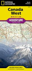 Canada, West AdventureMap by National Geographic Maps