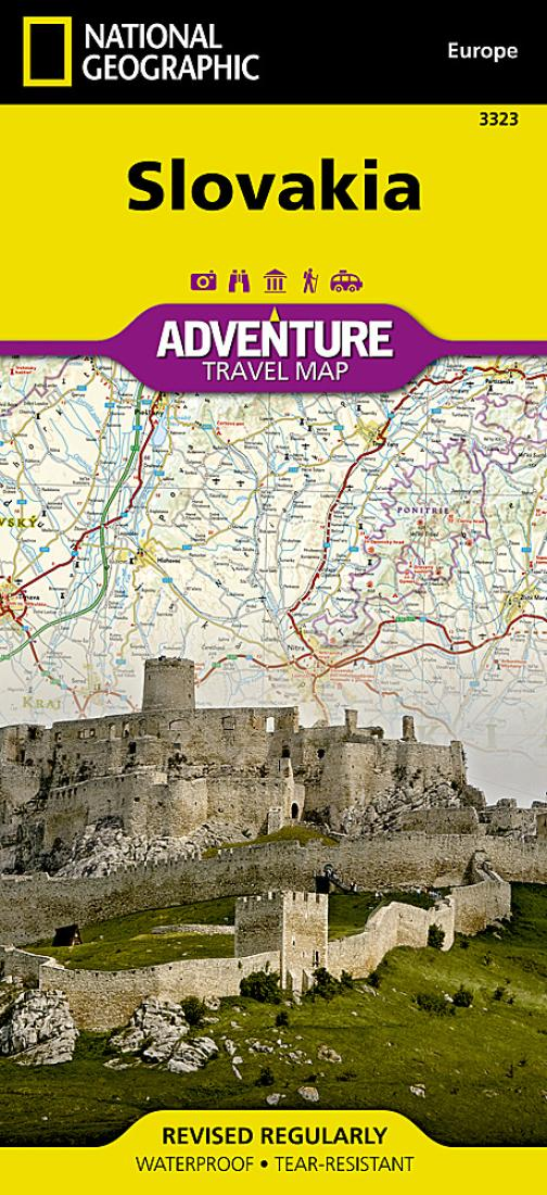slovakia adventure map 3323 by national geographic maps