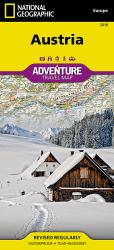 Austria Adventure Map 3319 by National Geographic Maps