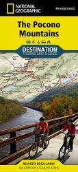 Pocono Mountains, PA, DestinationMap by National Geographic Maps