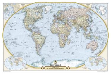 NGS 125th Anniversary World Map (Folded and Double-sided) by National Geographic Maps