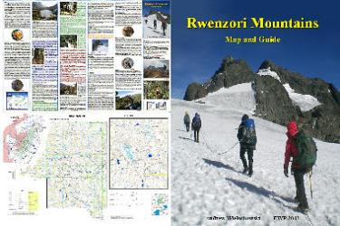 Rwenzori Mountains Map and Guide by EWP Publications