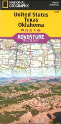 U.S. Texas, Oklahoma Adventure Map by National Geographic Maps