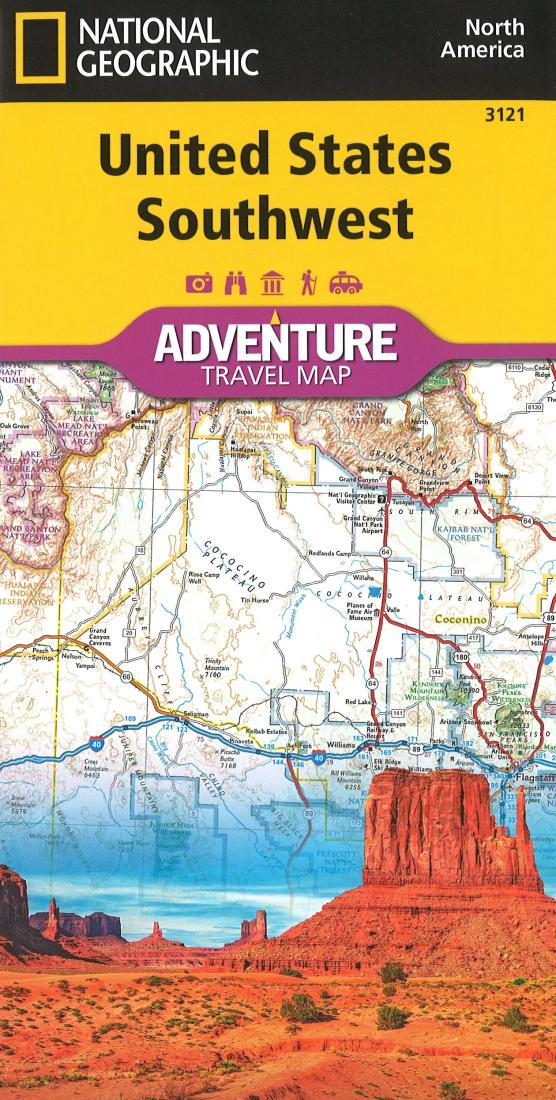 Us Southwest Adventure Map 3121 By National Geographic Maps - Southwest-map-us