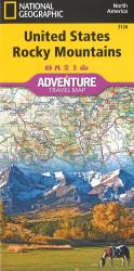 U.S. Rocky Mountains Adventure Map by National Geographic Maps
