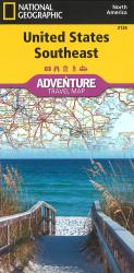 U.S. Southeast Adventure Map by National Geographic Maps