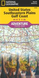 U.S. Southeastern Plains, Gulf Coast Adventure Map by National Geographic Maps