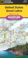 U.S. Great Lakes Adventure Map by National Geographic Maps