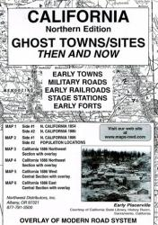 California, North, Ghost Towns, 6-Map Set, Then and Now by Northwest Distributors