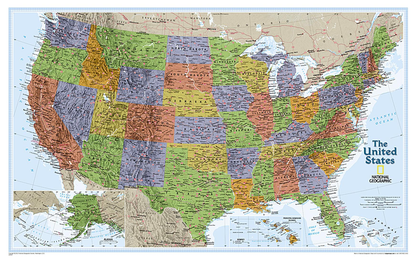 United States, Explorer, Sleeved by National Geographic Maps