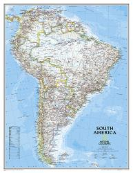 South America, Classic, Enlarged and Sleeved by National Geographic Maps