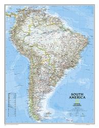 South America Classic Wall Map (23.5 x 30.25 inches) by National Geographic Maps