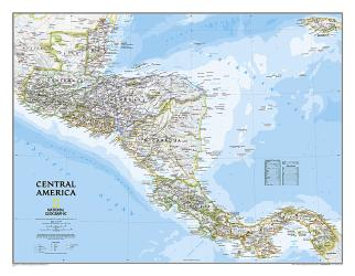 Central America Classic Wall Map (28.75 x 22.25 inches) by National Geographic Maps