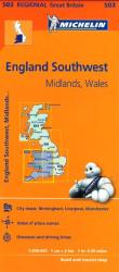 Wales, West Country and the Midlands (503) by Michelin Maps and Guides