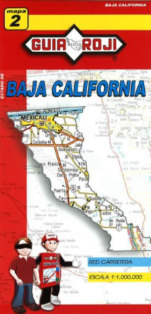 baja california norte mexico state map by guia roji