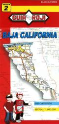 Baja California Norte, Mexico, State Map by Guia Roji