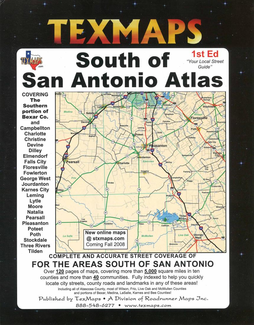 San antonio south texas atlas by texmaps publicscrutiny Choice Image