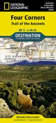 Four Corners, Trail of the Ancients DestinationMap by National Geographic Maps