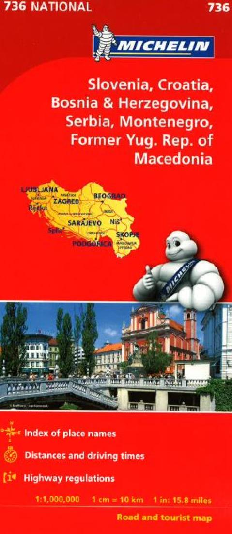 Croatia BosniaHerzegovina Yugoslavia and Macedonia 736 by
