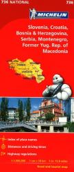 Slovenia, Croatia, Bosnia-Herzegovina, Yugoslavia and Macedonia (736) by Michelin Maps and Guides