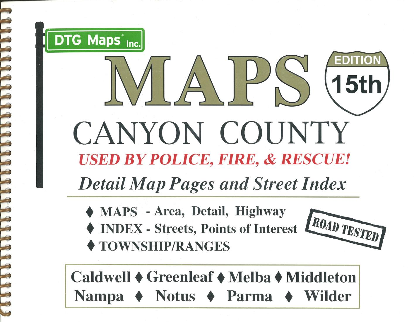 Melba Idaho Map.Canyon County Idaho Atlas By Dtg Maps
