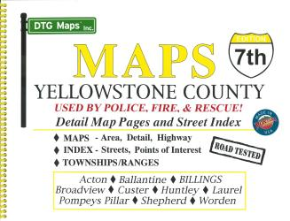 Yellowstone County, Montana Atlas by DTG Maps