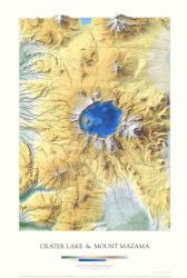 Crater Lake and Mount Mazama, Laminated Wall Map by Raven Maps