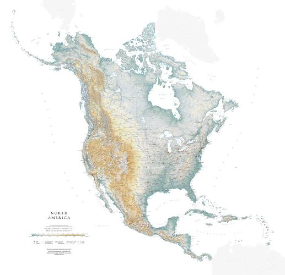 North America, Wall Map by Raven Maps