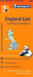England, Southeast, The Midlands and East Anglia (504) by Michelin Maps and Guides