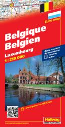 Belgium and Luxembourg by Hallwag