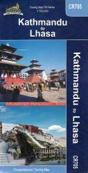Kathmandu to Lhasa, Nepal Touring Map by Himalayan MapHouse Pvt. Ltd