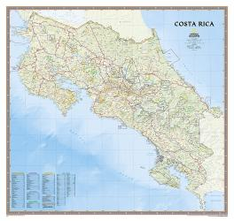 Costa Rica, sleeved by National Geographic Maps