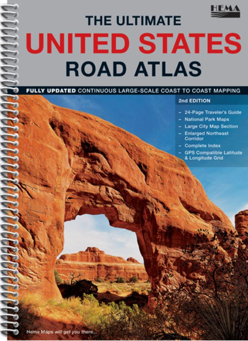 United States, The Ultimate Road Atlas by Hema Maps