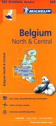 Brussels, North and Central Belgium (533) by Michelin Maps and Guides