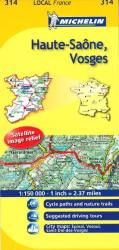 Haute-Saone, Vosges (314) by Michelin Maps and Guides